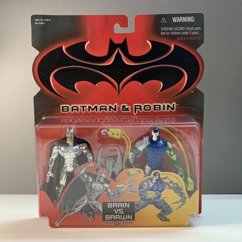1997 kenner 重裝班恩vs銀裝蝙蝠俠 batman 蝙蝠俠 dc bane