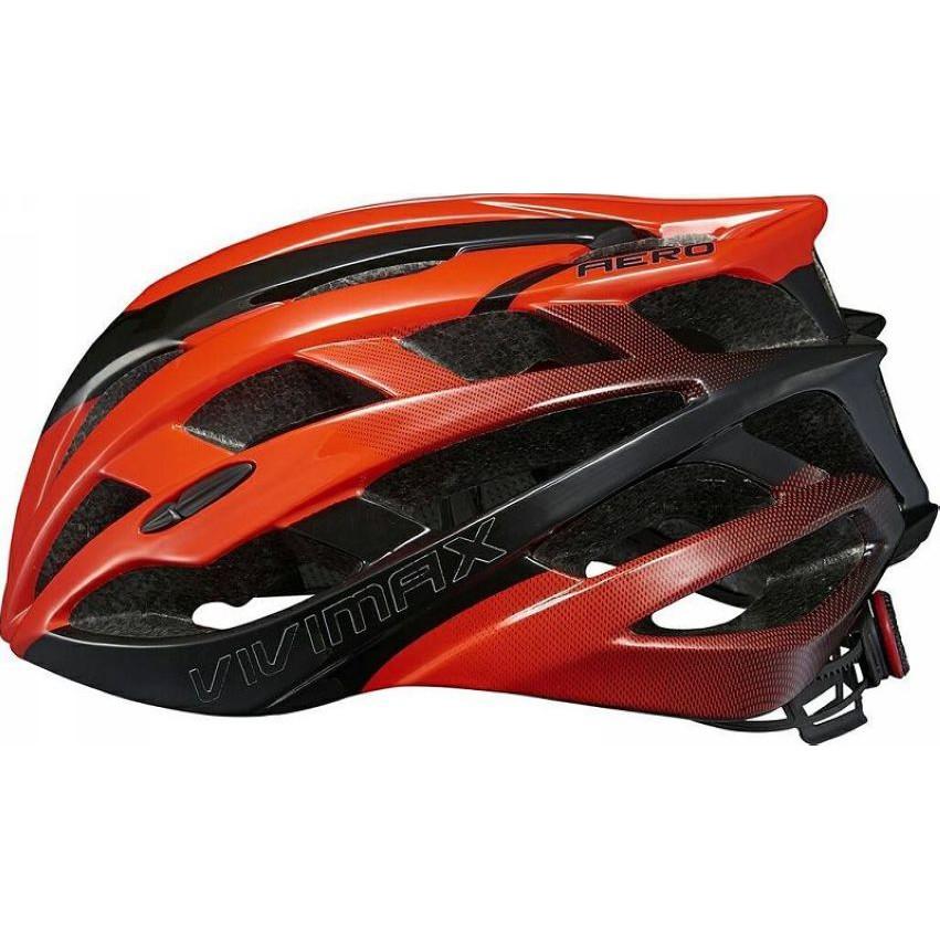 VIVIMAX AERO-19 自行車競賽版安全帽 頭盔-流線造型(紅黑)[09001904]【飛輪單車】
