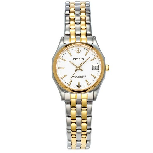 台灣品牌手錶腕錶【TELUX鐵力士】雋永經典女腕錶手錶23MM另有男款台灣製造石英錶250122LTG-W12