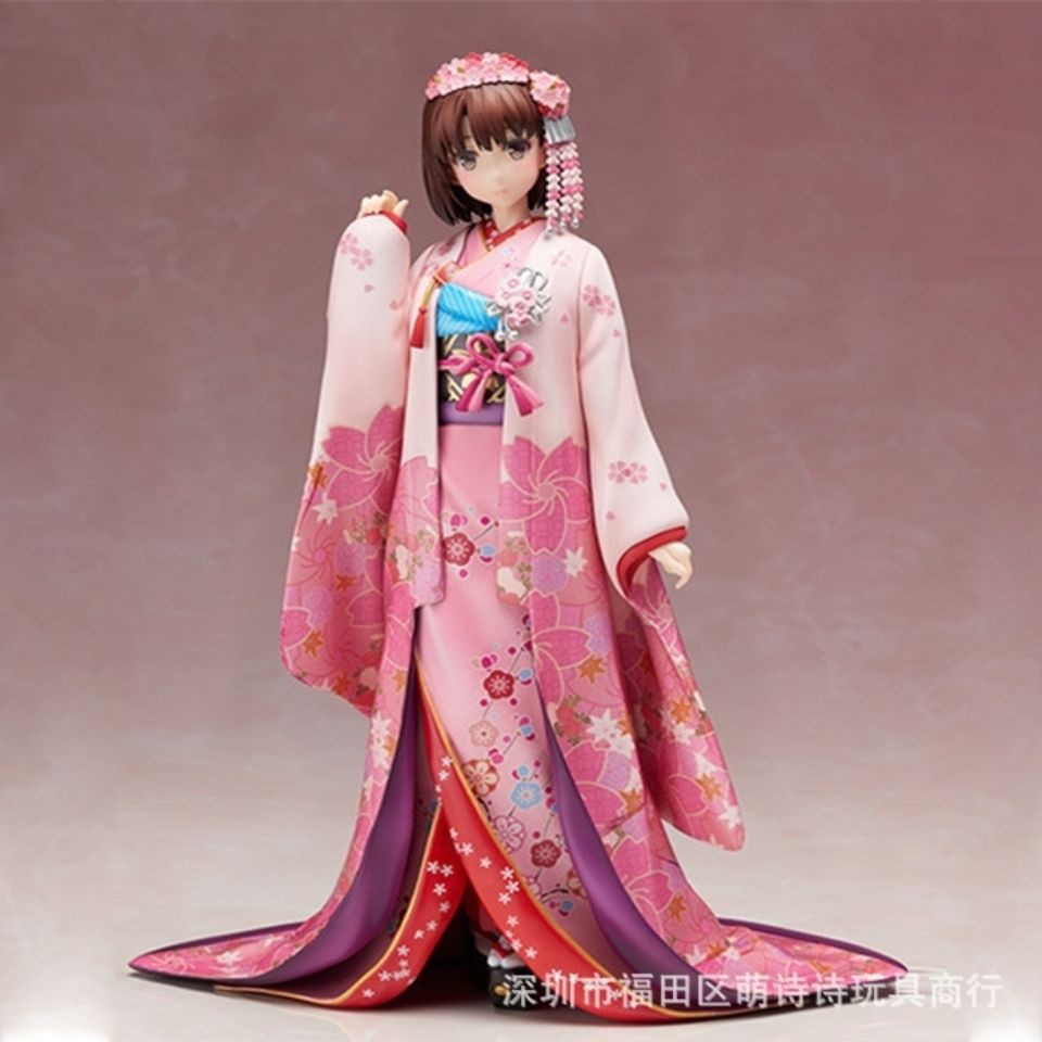 美少女手辦 路人女主的養成方法 加藤惠 圣人惠 和服禮物玩具擺件 有米動漫周邊