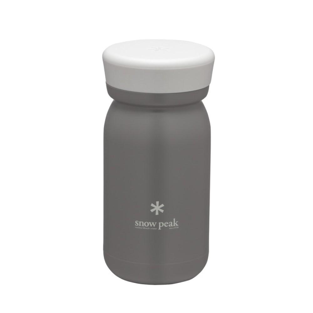 Snowpeak 不鏽鋼真空保溫瓶M型350 煙灰 TW-351-AS
