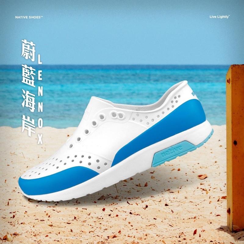 *永和正品簽約* Native LENNOX BLOCK 雷諾系列 懶人鞋 洞洞鞋 晴雨兩穿 拼接