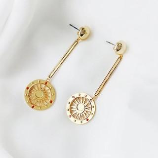 Wanderlust+Co  澳洲品牌 金色太陽神耳環 平衡骨X圓圈耳環 SOLIS DRO 新北市