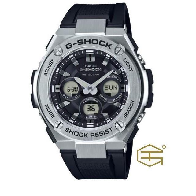 【天龜】CASIO G SHOCK 太陽能 銀色錶殼 & 黑色膠帶 GST-S310-1A