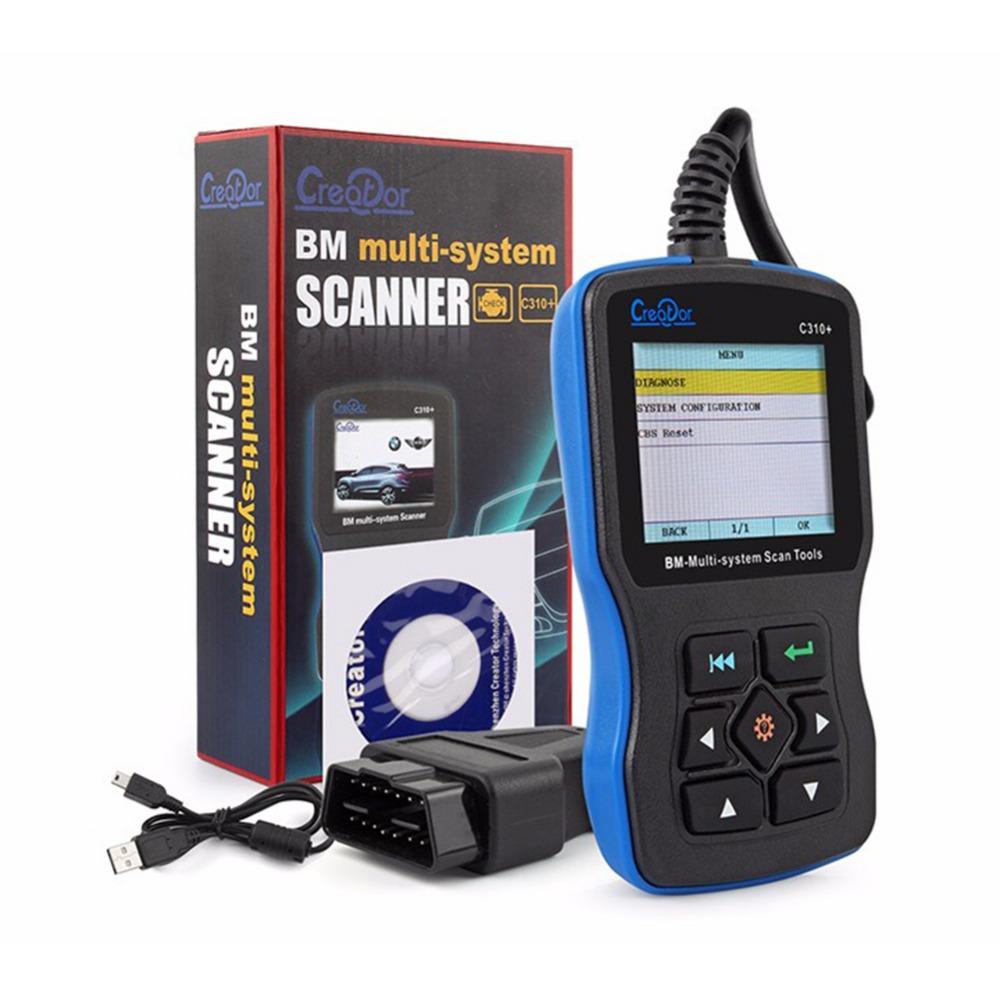 Creator C310+寶馬多系統故障診斷儀 讀取故障程式碼 機油復位