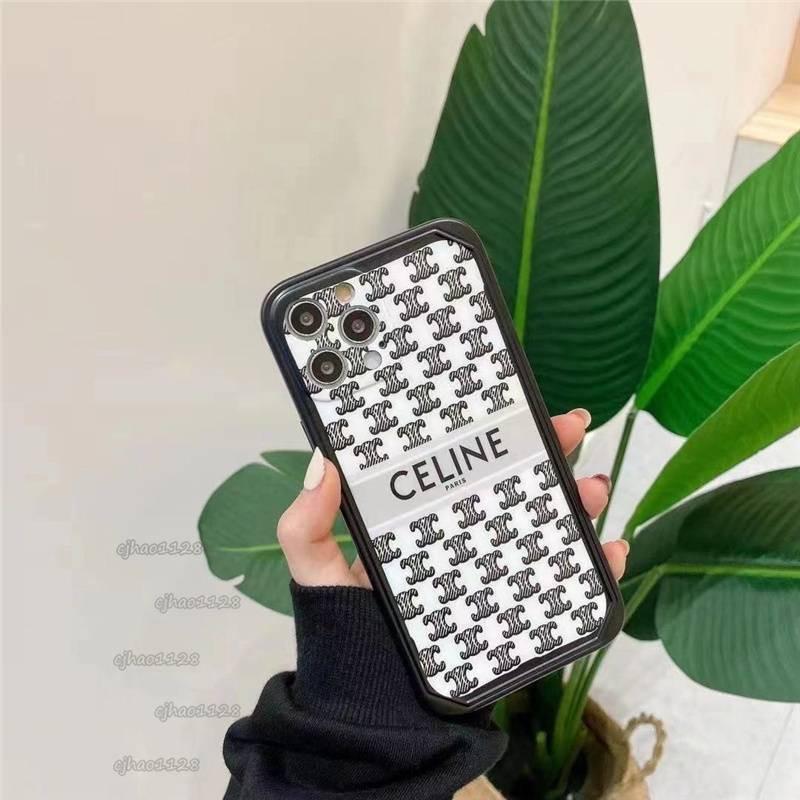 時尚潮流CELINE手機殼適用iPhone12 11pro 12mini X Xs max XR 8Plus 手機殼全包