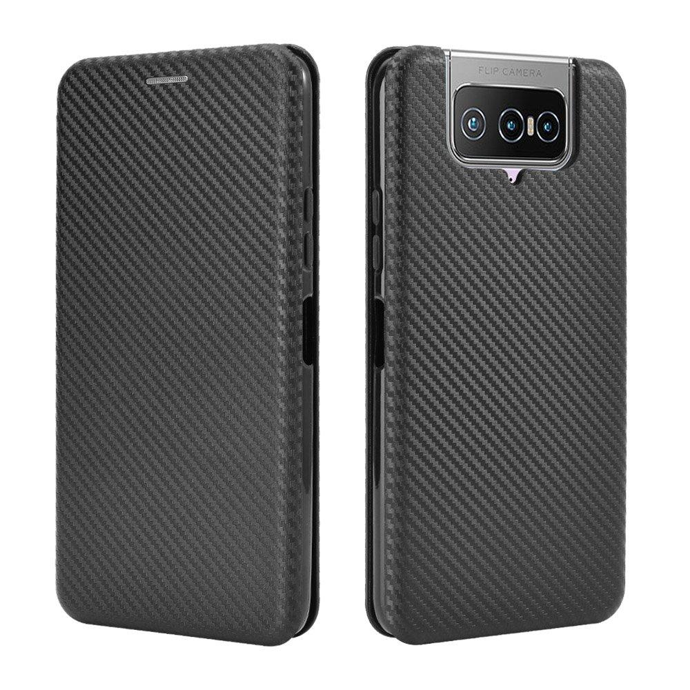 碳纖維 翻蓋皮套 華碩 ASUS Zenfone 7 ZS670KS插卡錢包支架手機殼Zenfone7防摔 磁吸 手機套