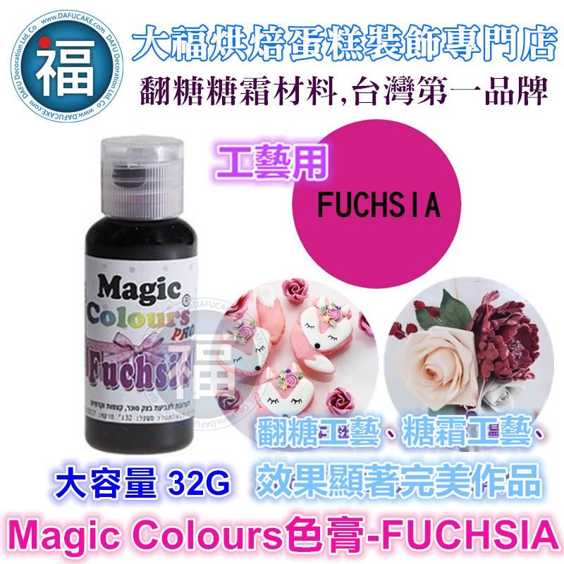 【MagicColor】色膏Fuchsia紫紅 僅蛋糕工藝裝飾使用 適用惠爾通wilton蛋白粉噴筆色粉翻糖非食用色素筆