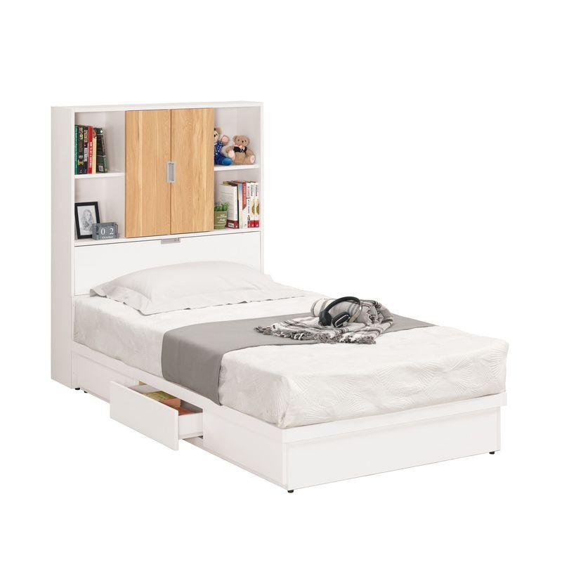 【MA176-3】卡爾3.5尺書架型單人床