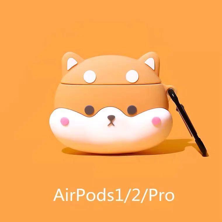 Airpods 保護套 airpods1/2/3 pro 柴犬 卡通 apple/蘋果無線耳機殼 保護套 保護殼 耳機套