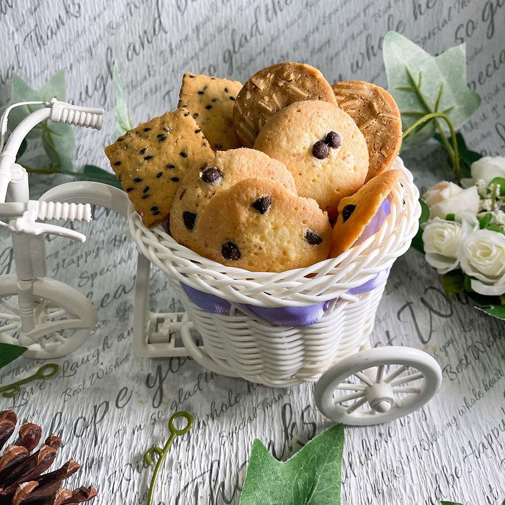 【MENIPPE媚力泊】經典綜合手工餅乾分享包 5種口味 巧克力 黑芝麻 香蔥乳酪 檸檬優格 芭蕾薩 小餅乾