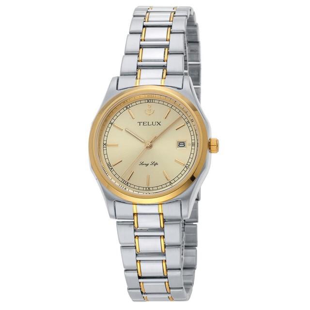 台灣品牌手錶腕錶【TELUX鐵力士】傳世經典腕錶38mm 台灣製造石英錶7585TG-G12金面金釘