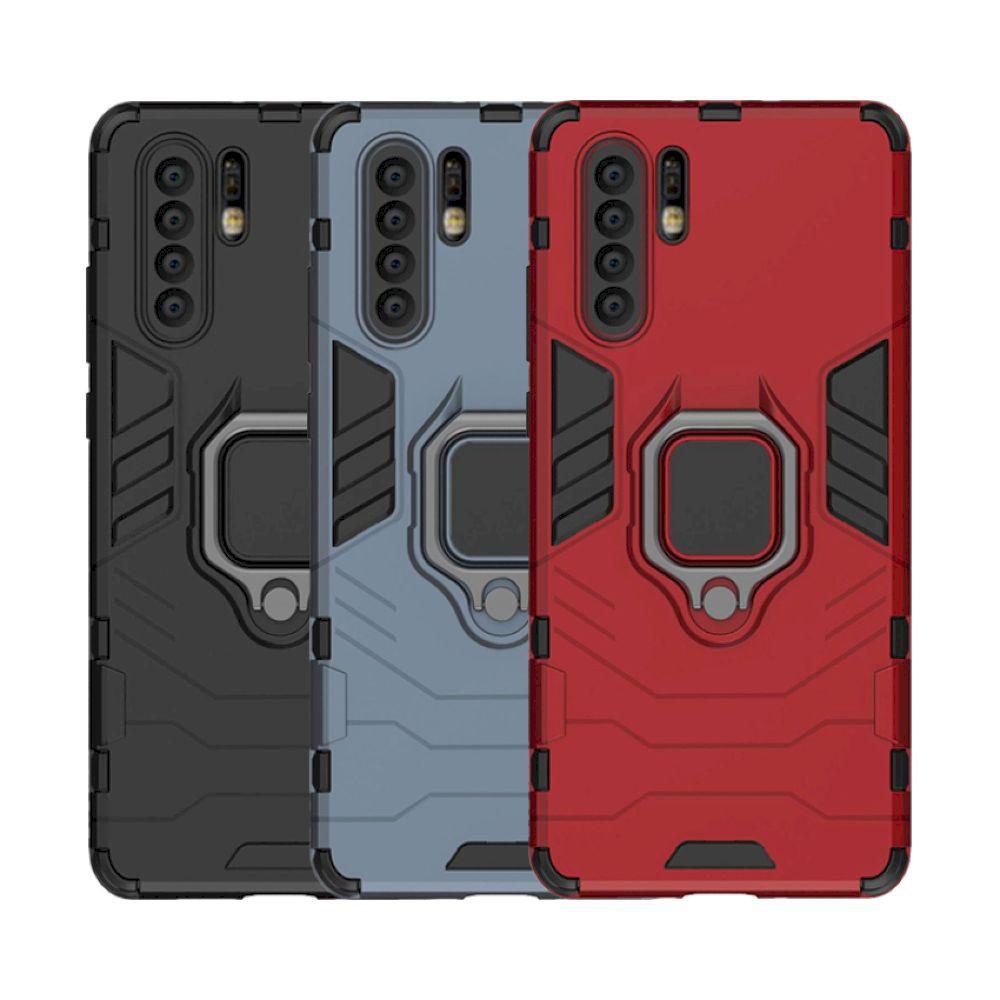 Huawei P30 P20 Pro Mate 20X 20 Pro 10 鎧甲保護殼雙層抗震軟硬殼指環支架手機殼背蓋