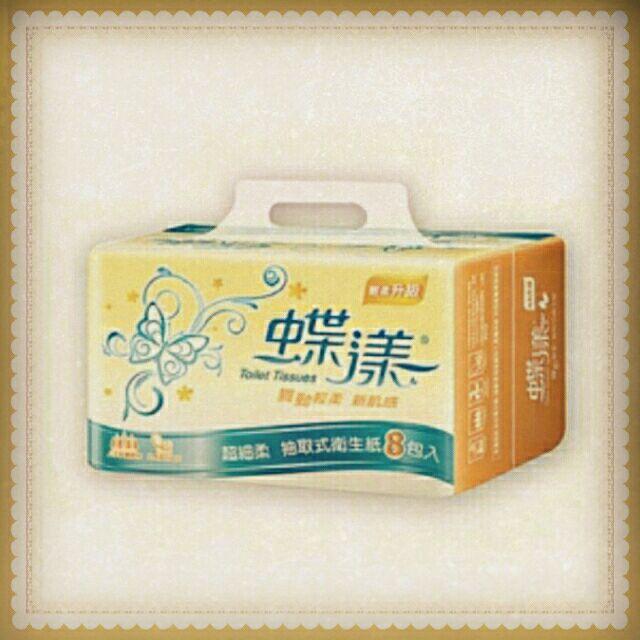 蝶漾超細柔抽取式衛生紙(130抽,8包)