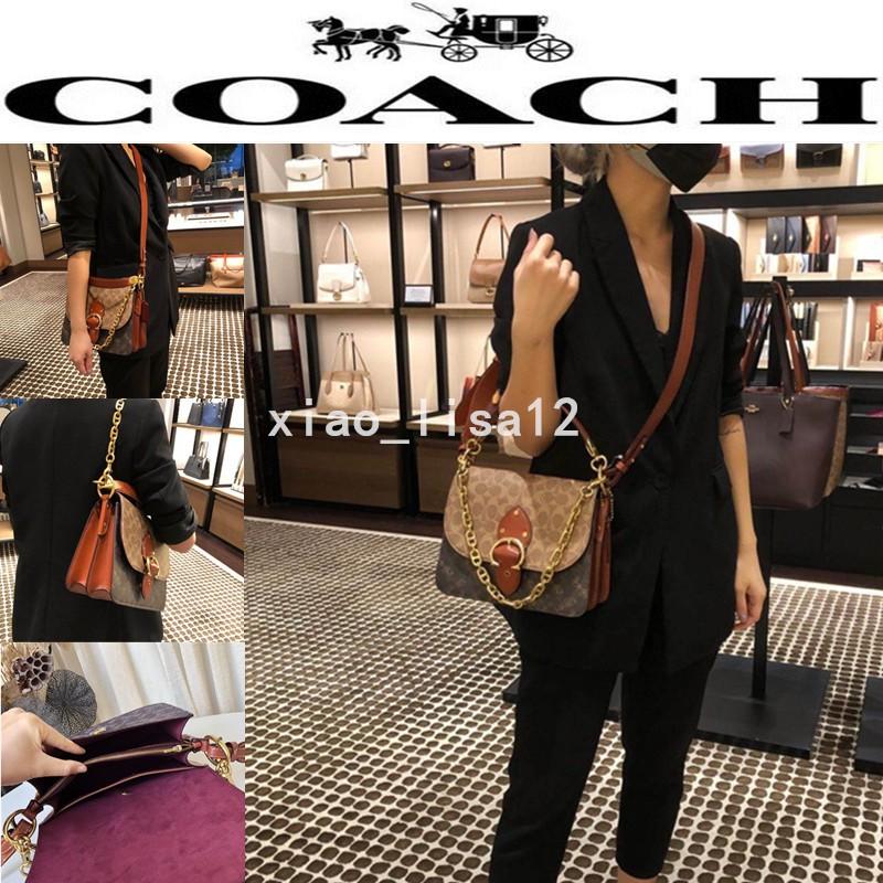 正品代購 COACH蔻馳 C2418 BEAT 經典logo 印花 手提包 肩背包 單肩手袋 郵差包 斜背包 側背包