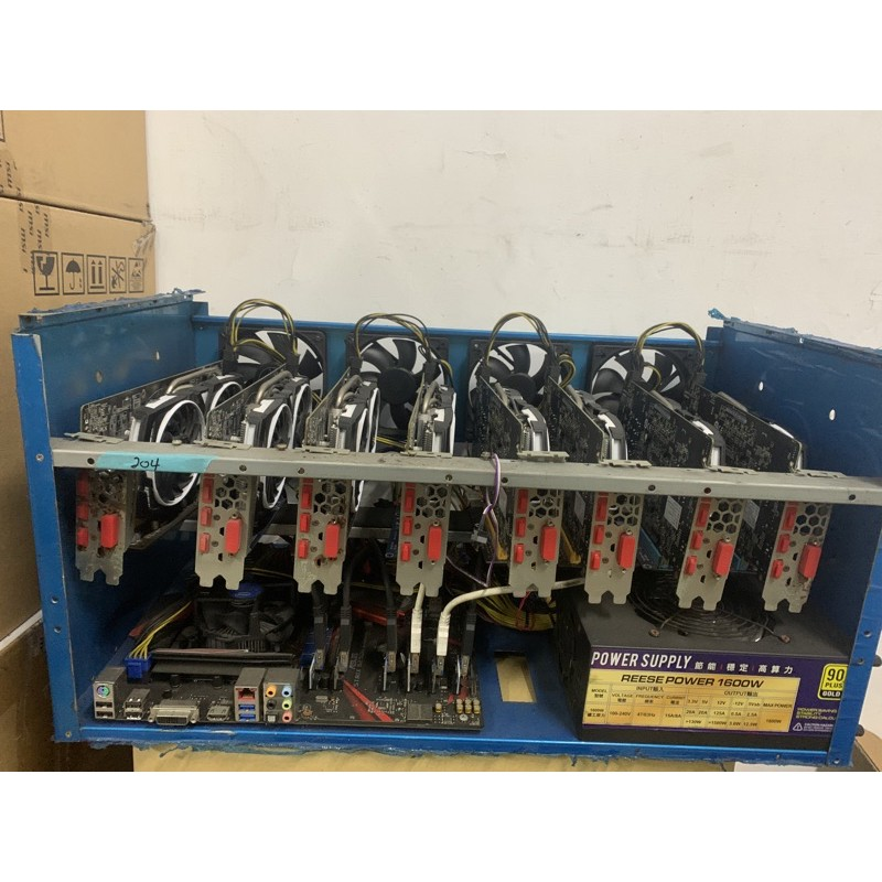 微星 p106 rx470 RX570 rx580 8G OC電競虎 8卡礦機