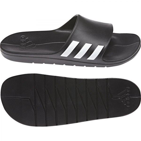 ⓉⒽⓇⒺⒺⒼ🔥ADIDAS AQUALETTE 運動拖鞋 防水 海灘 拖鞋 一體成型 軟底 黑色 男 CG3540