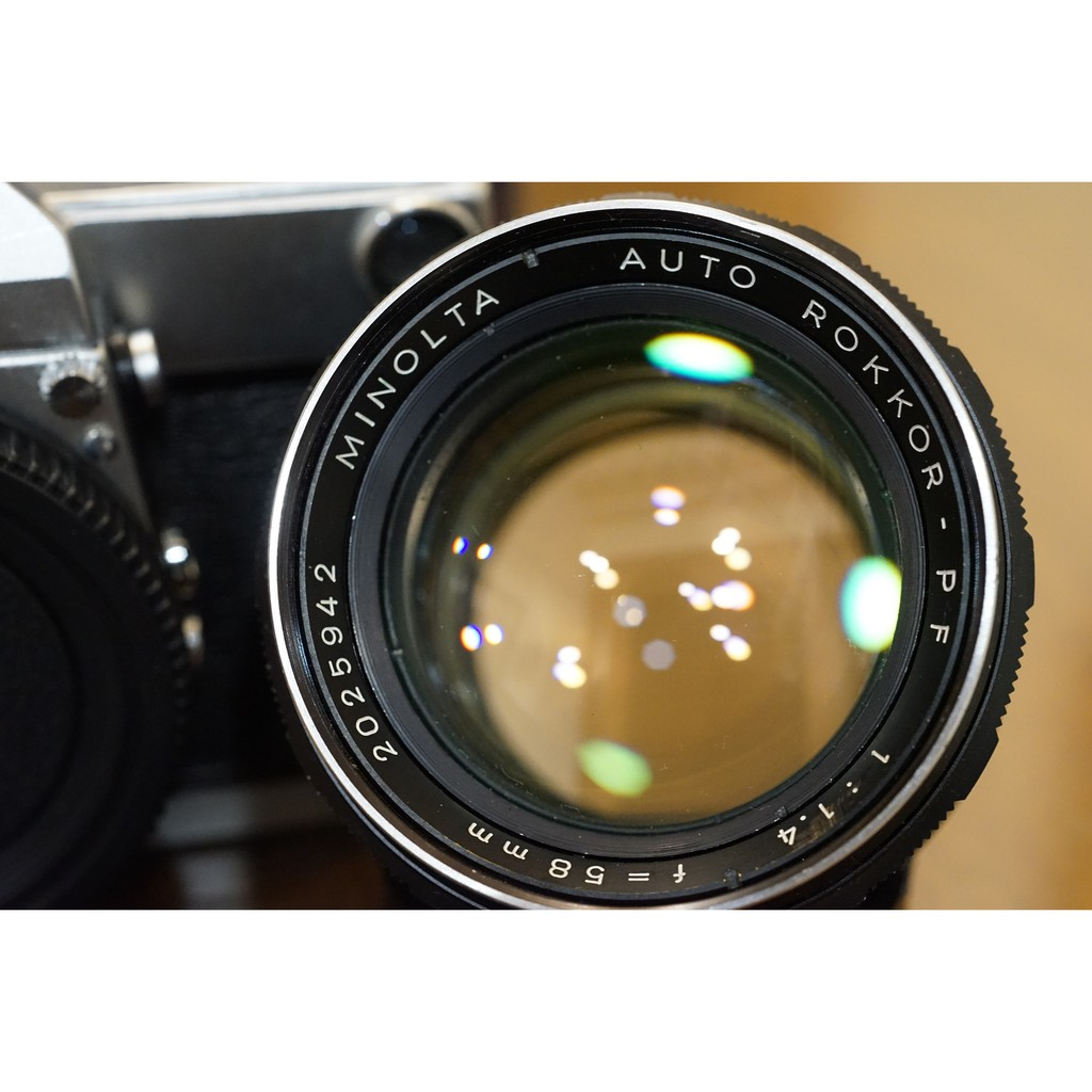 品相很好純機械Minolta SR-7加購Auto Rokkor 58mm F1.4 大眼睛人像鏡接環
