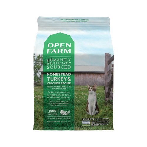 Open Farm開放農場 田野嫩雞與火雞/深海菲力野生鮭/海洋季節鮮白魚/紐西蘭野牧草飼羊.貓糧『WANG』