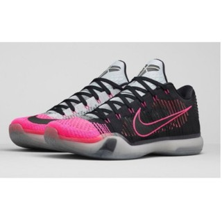 全新 Kobe 10 Elite Low Mambacurial 747212-010 編織 黑粉