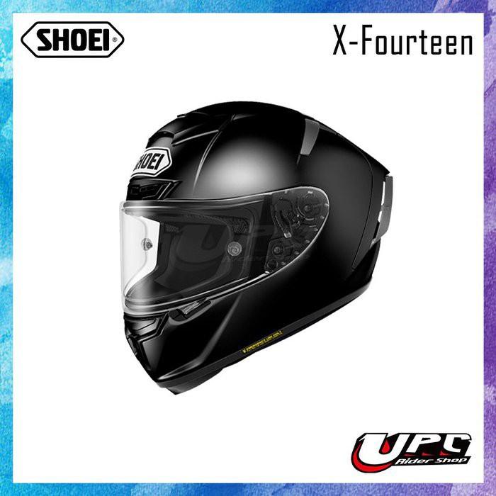 台中UPC 騎士精品♔ 日本 Shoei 旗艦 X-14 內襯可拆 快拆鏡片 SNELL X14 安全帽\黑白素色