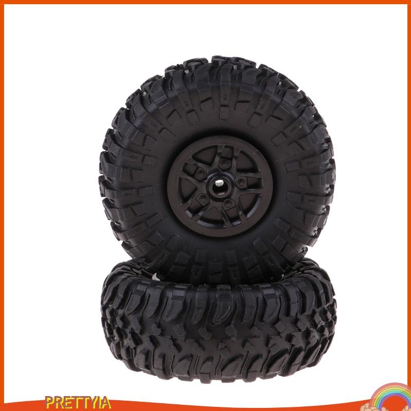[PRETTYIA] 4pcs D90 MN90 MN91 RC 1 / 12 履帶式預裝車輪和輪胎黑色