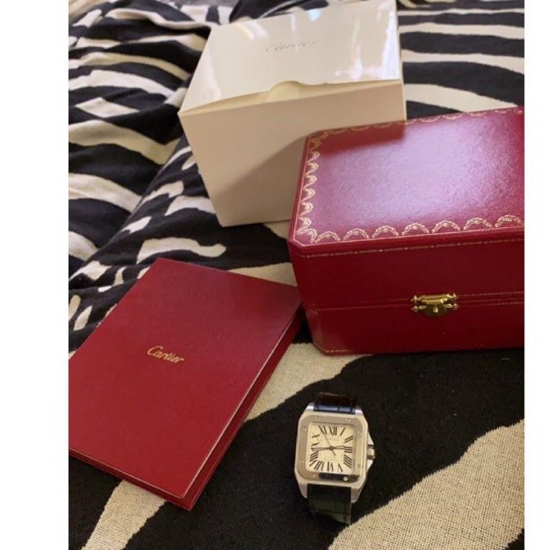 Cartier 山度士 SANTOS 100 STAINLESS STEEL 2878(佔售)