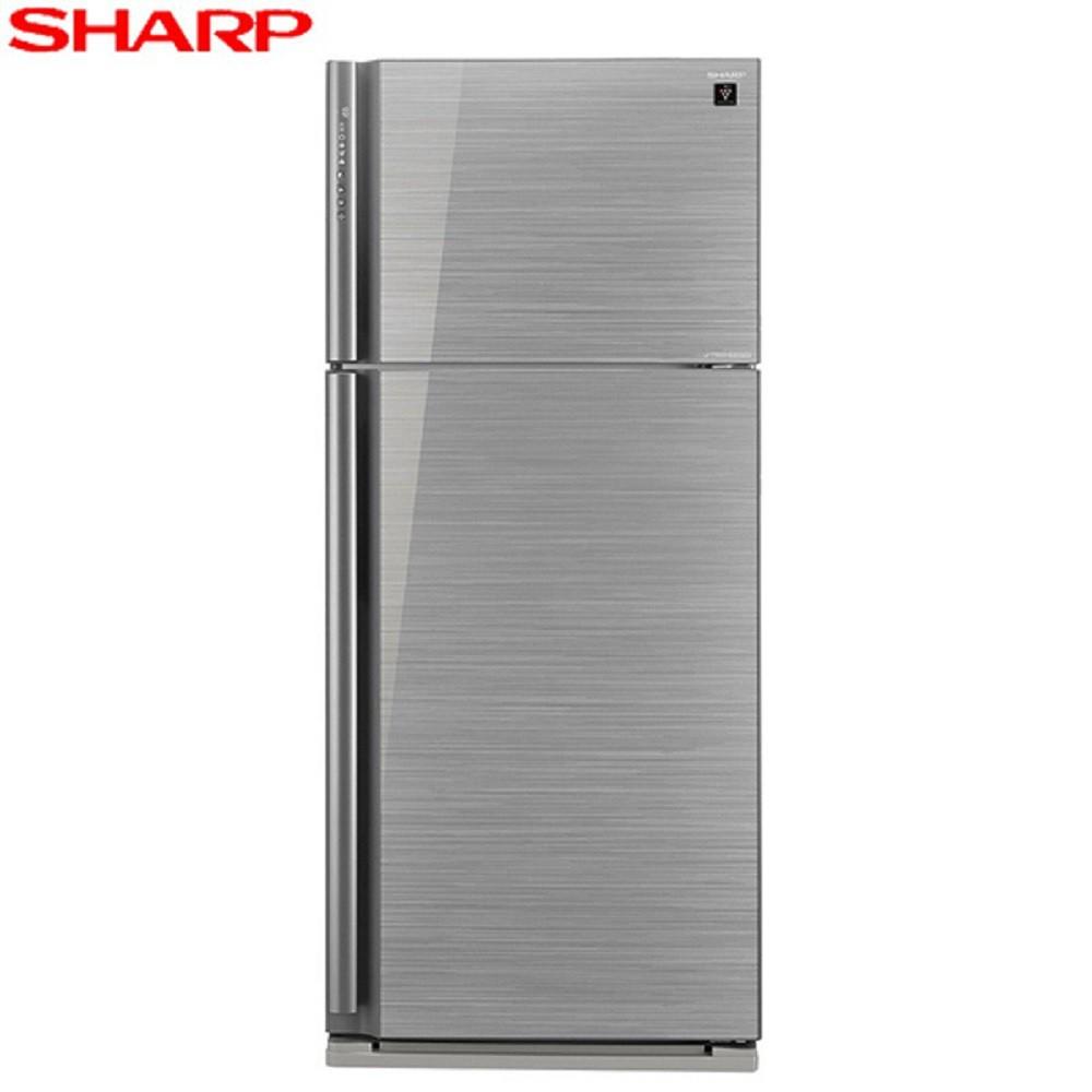SHARP 夏普 雙門583L一級能變頻電冰箱(玻璃鏡面) SJ-GD58V-SL (含基本安裝)-贈全家商品卡500元