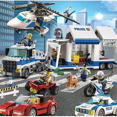 樂高 城市系列 男孩子 積木 拼裝 玩具 益智力 動腦 6歲 女 警察局 人仔 9 禮物