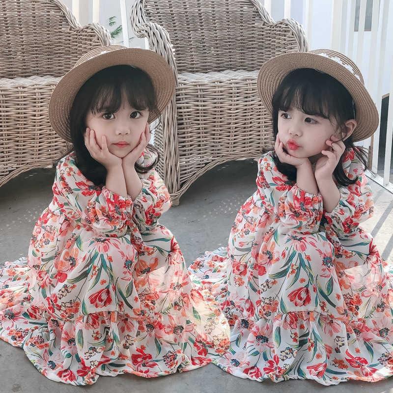 韓國熱賣洋裝 兒童 新款 連衣裙 2020 女童 小仙女 碎花裙 女寶 雪紡 公主裙 洋氣連身裙