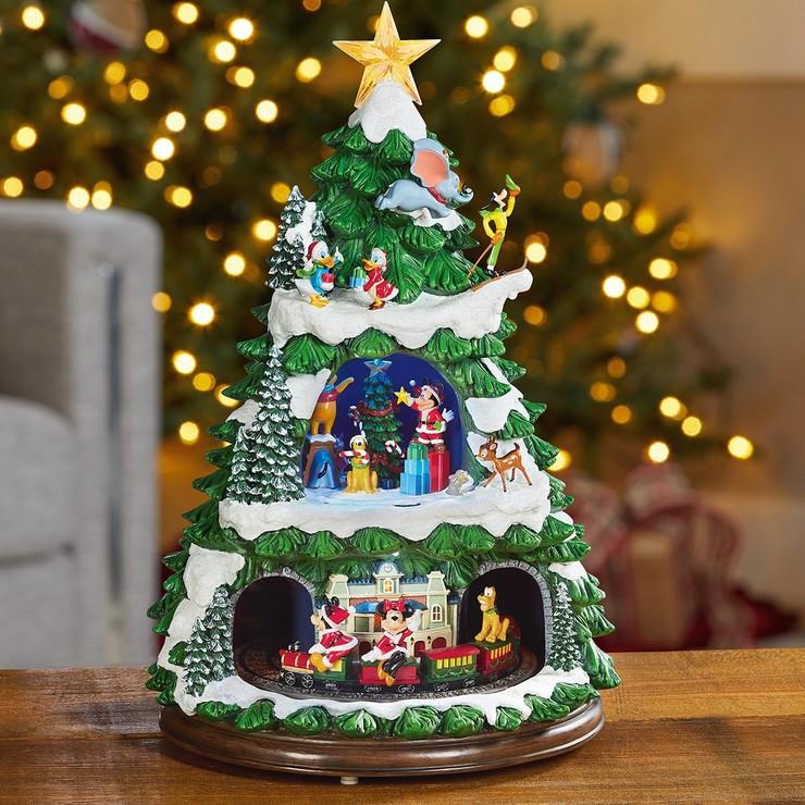 沒有了!Costco 好市多代購 免運 迪士尼 17.5 吋 LED音樂火車聖誕樹擺飾 音樂盒 聖誕節 米奇 米妮 維尼