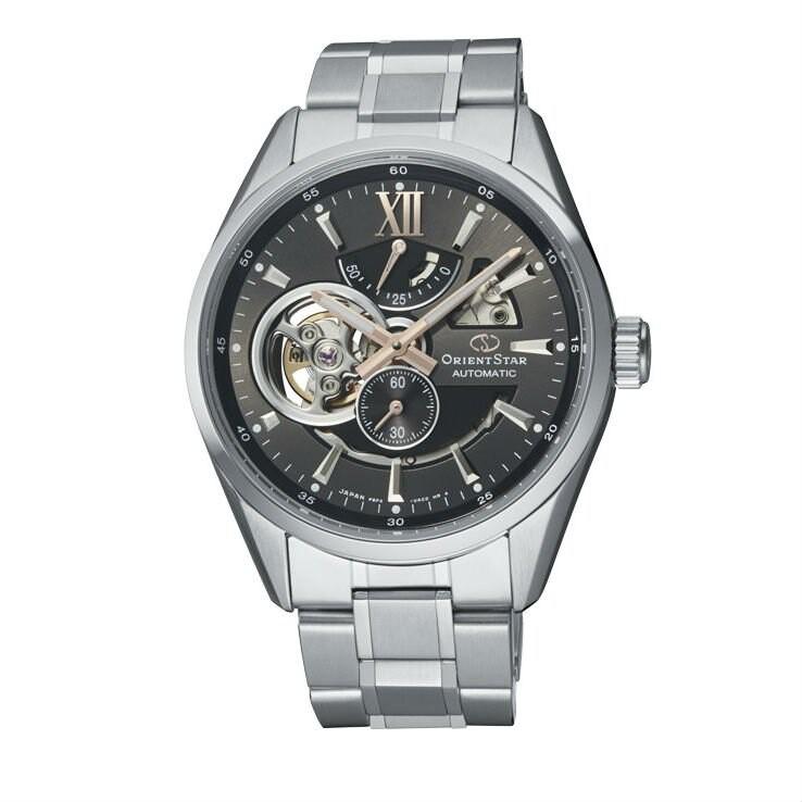 Orient 東方錶 (RE-AV0004N) OPEN HEART系列 鏤空機械錶 鋼帶款/灰 41mm