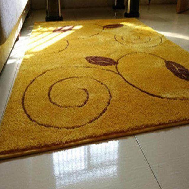 【現貨】~金黃色家用門口進門地墊客廳耐臟入戶防滑腳墊門墊臥室地毯