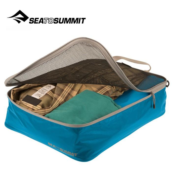 【Sea To Summit 澳洲】旅行打理包 衣物打理包【M號】藍/淺灰 (ATLGMBM)