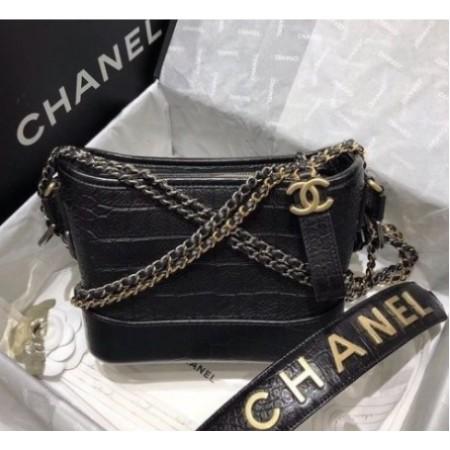 【精品❤二手】Chanel AS0865 de Chanel 秋冬新款 鱷魚紋 流浪包 現貨+預購