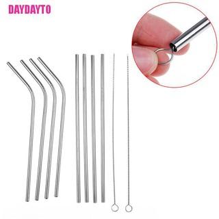 [DAYDAYTO] 4件裝帶吸塵器清潔工具的不銹鋼金屬吸管