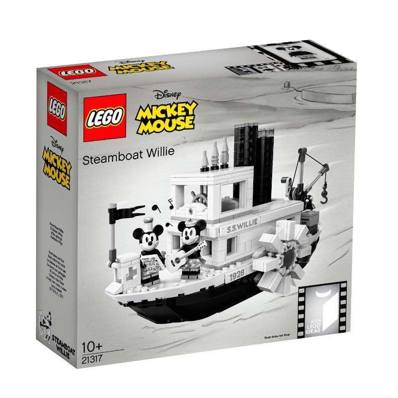 LEGO樂高21317  Ideas 米奇老鼠90周年 汽船威利號拼裝積木玩具·