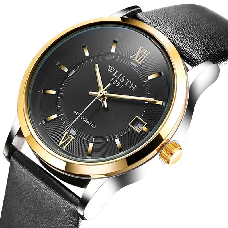 全自動機械表防水商務男士腕錶雙面鏤空全自動機械手錶男