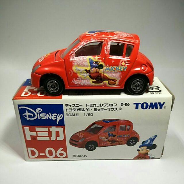 32絕版舊藍標Tomy tomica D-06toyoya Vi紅色魔法米奇車