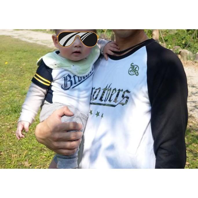 中信兄弟 七分袖 T恤 迷彩 SMG 潮牌聯名款 親子裝 L號 XL號 包屁衣 兄弟象