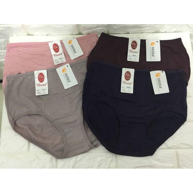 Beita加大尺碼木代爾棉Modal(材質優)高腰內褲#3035◾️簡單點◾️