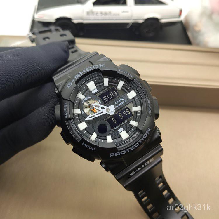 卡西歐G-SHOCK手錶男GAX-100B-1A衝浪月相潮汐溫度LED防水運動 Q178