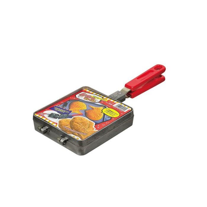 一鑫餐具【日本 パール金属 魚形2格鯛魚燒烤盤 D-419】紅豆餅模紅豆餅燒烤器大判燒雞蛋糕