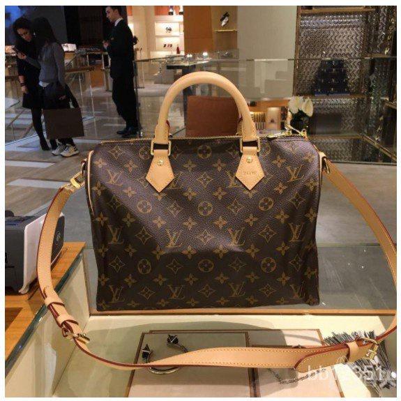 二手正品 Louis Vuitton 路易威登包包 LV女包 SPEEDY30 手提枕頭波士頓包 M41112