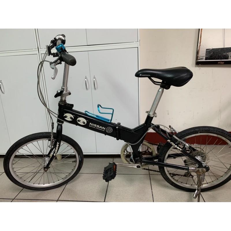 鋁合金/捷安特Giant/黑色/FD806/20吋6段變速折疊腳踏車/日本shimano定位變速/中壢平鎮