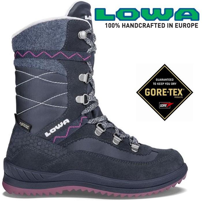 Lowa 中筒保暖雪靴/防水雪鞋 Gore-tex 女EMELY GTX HI 650541 6951海藍/桃紅
