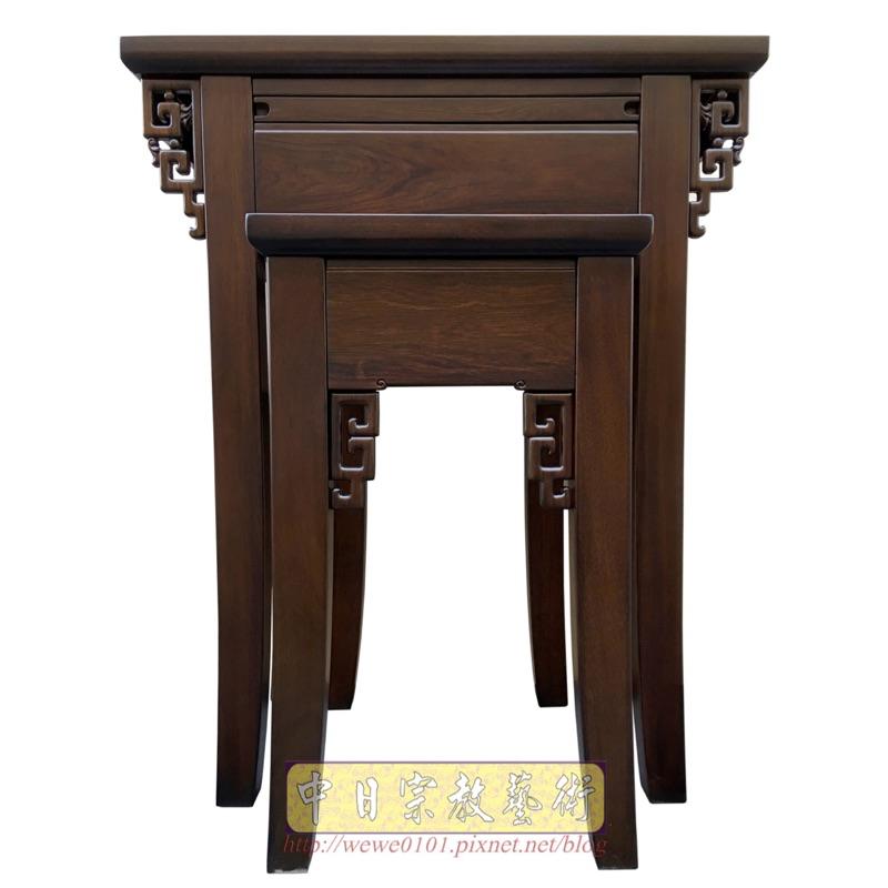 神桌嚴選 佛桌設計~現代小型神桌製作 上桌的桌面深度48公分 屬於淺型神桌 適用於公媽桌樣式 面寬88公分