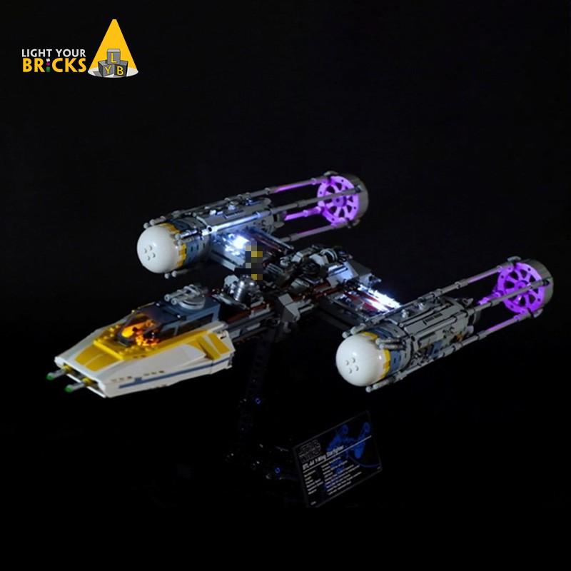 #LEGO改裝燈#適用樂高75181星球大戰Y-翼星際戰機LED配套燈飾 套裝DIY燈具燈光