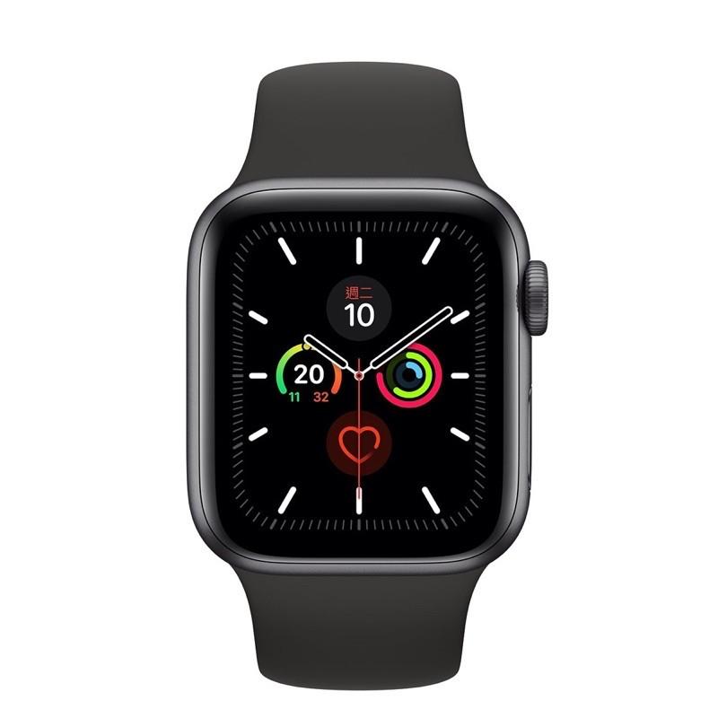 Apple watch S5 44mm 黑色 智慧手錶 9.9成新 無損 送透黑錶帶