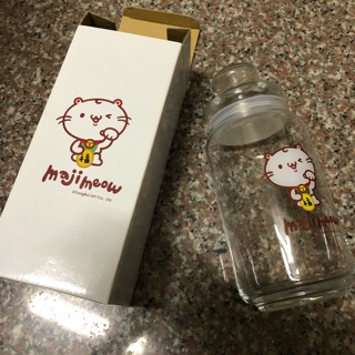 Maji Meow 麻吉貓 玻璃儲物罐 玻璃瓶 1000cc容量 麻吉貓 可裝糖果 茶葉 餅乾 ...等 台中市